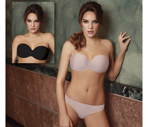 Art. 2900 – Set Microfobra bretel strapless soft cup removable and vedetina